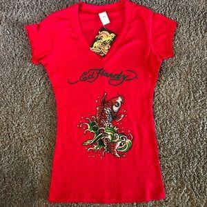 NWT Red Ed Hardy Shirt